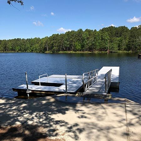 Dock at Reservoir Park in Southern Pines